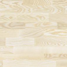 Паркетная Доска ESTA 3-Х Полосный белый элитный ясень NB Light Brushed Gloss 5%