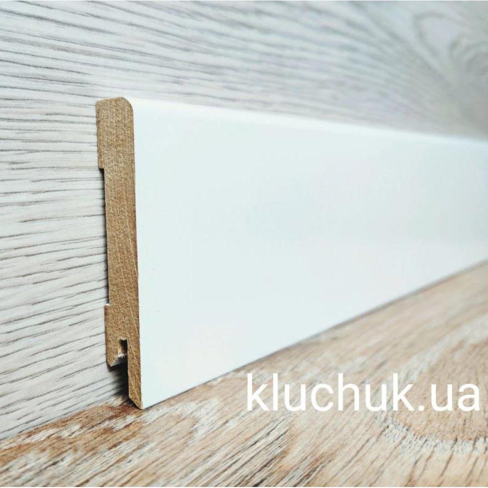 Плинтус Kluchuk МДФ Белый крашеный MDF-М80