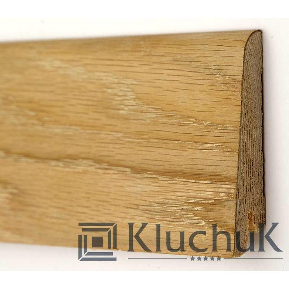 Плинтус Kluchuk Rustique Дуб шлифованный (под покраску) KLR60-01