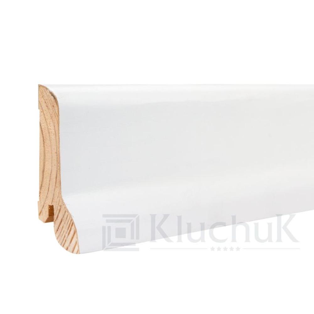 Плинтус Kluchuk Белый White plinth 60х21KLW-02