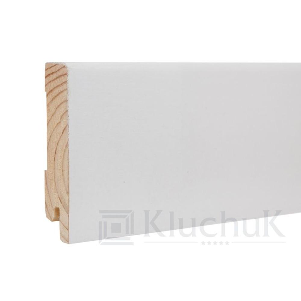 Плинтус Kluchuk Белый White plinth 80х19 Модерн KLW-04
